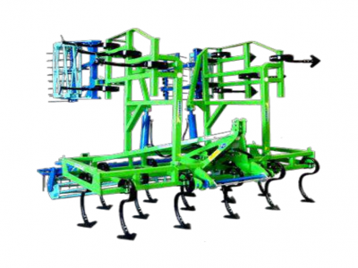 vibro-cultivator vertical folding in 3 with 3 beams